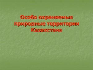 Особо охраняемые территории казахстана реферат 3061