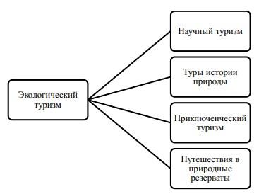 Классификация экологического туризма по Бабкину А.В.