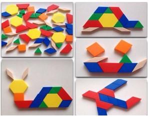 Рисунок 3 - Игра «Выкладывание узора из геометрических фигур»