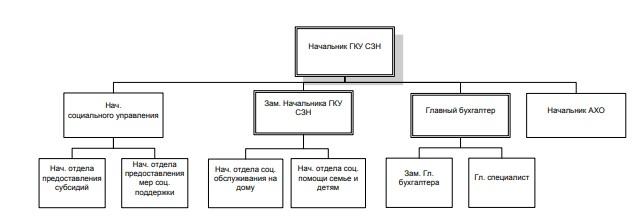 Рисунок 4 – Организационная структура ГКУ СЗН по г. Сковородино и Сковородинскому району