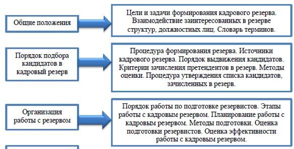 Структура Положения о кадровом резерве ТОО «Яндекс-Такси»