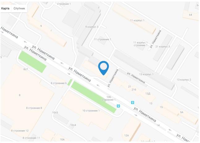 1 Информация о местоположении ресторана «Намёткин»