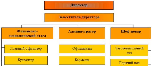 Организационная структура управления ТОО «Nati Food»