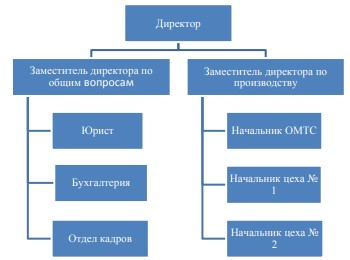Организационная структура управления ООО «Строительная Сибирь»