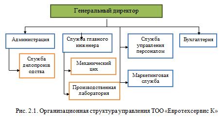 орг структура ТОО
