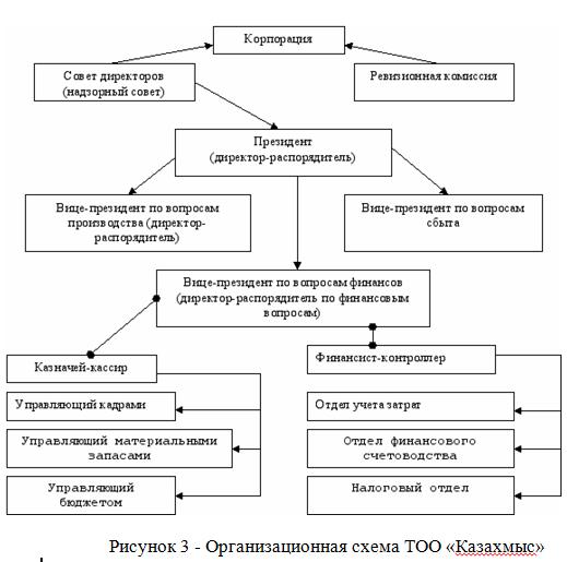 Организационная схема ТОО «Казахмыс»