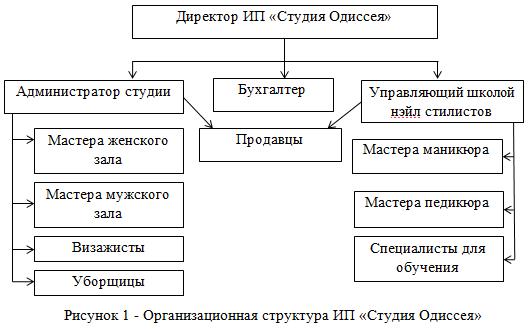 Организационная структура ИП «Студия Одиссея»
