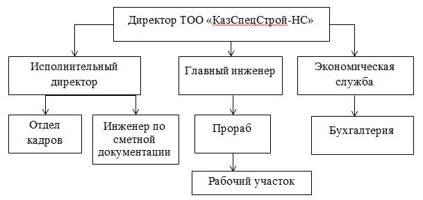 Организационная структура  ТОО «КазСпецСтрой-НС»