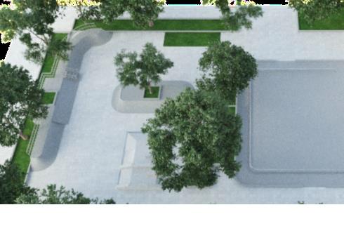 Рисунок Б.10- Скейт-площадка для учащихся 5-9 классов