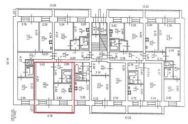 Схема первого этажа общежития №4