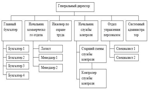 Организационная структура управления ООО «Торг ДВ»