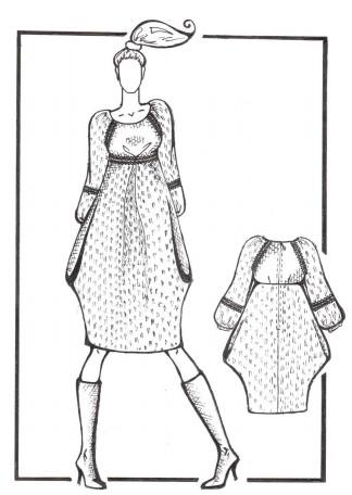 Рисунок 27 – Эскиз платья в стиле бохо