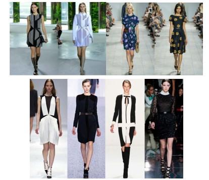 Рисунок 6 – Деловые платья с модными фасонами юбок