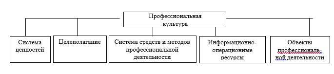 Структура профессиональной культуры