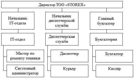 Организационная структура управления ТОО «STOREX»