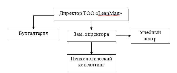 Организационная структура ТОО «LeanMan»