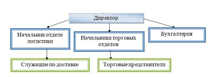 Организационная структура ТОО «CAT - Central Asia Trading»