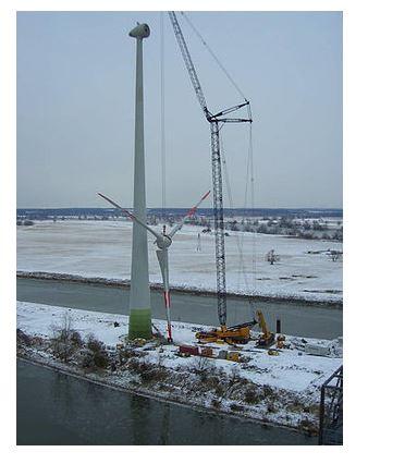 Монтаж турбины в Германии