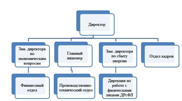 Организационная структура ПАО «Красноярскэнергосбыт»