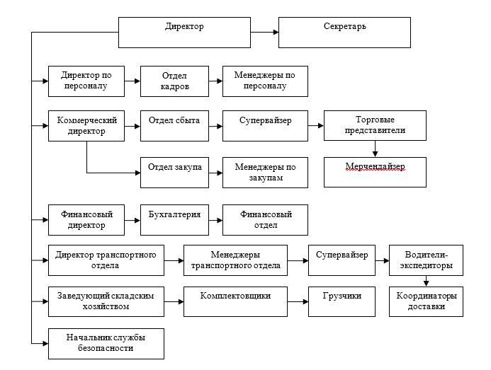 Организационная структура ТОО «Юникс-1»
