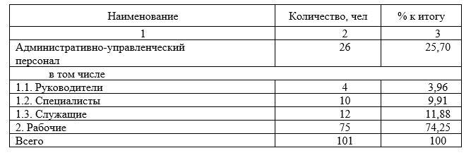 Анализ трудовых ресурсов предприятия в 2019 г.